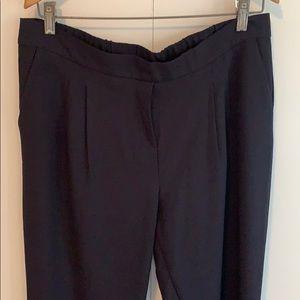 Pants - Navy Blue Ankle-length Pants